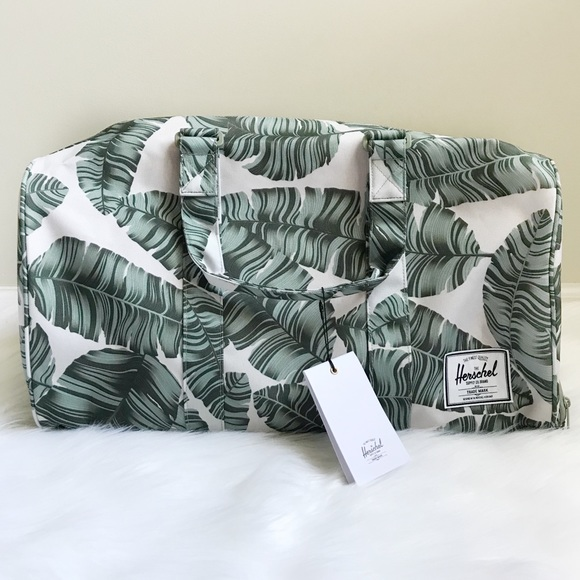 0f60780f8dc Herschel Silver Birch Palm Leaf Novel Duffle Bag